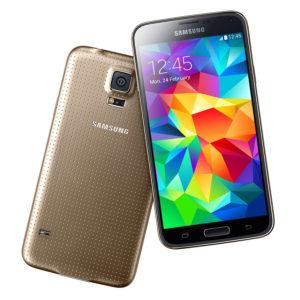 A legolcsóbb Samsung Galaxy S5 mobil arany színű