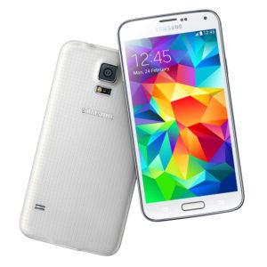 A legolcsóbb Samsung Galaxy S5 mobil fehér színű