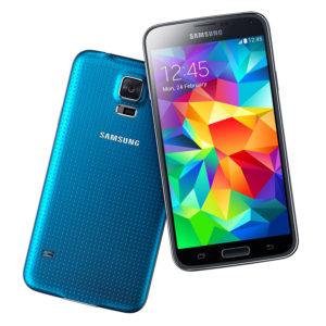 A legolcsóbb Samsung Galaxy S5 mobil kék színű