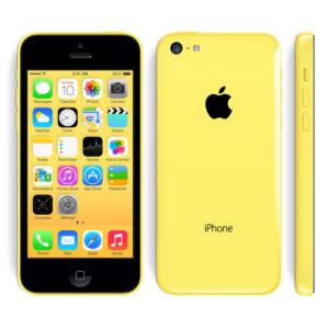 A legolcsóbb Apple iPhone 5C sárga színű
