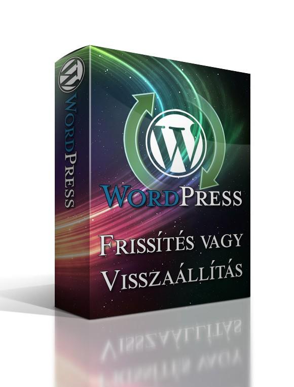 WordPress frissítés és visszaállítása